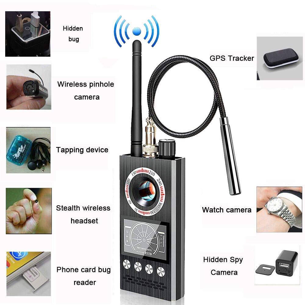 Anti Spy RF Detector Hidden Camera Detector Bug GPS Wireless Signal Alarm Scanner Detection Device [Military-Professional Version]