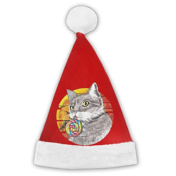 michael bdown cat lollipop christmas santa holiday theme hats 3d graphic printed for adults and children