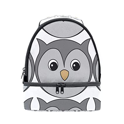 f9699249d5fa Amazon.com: Insulated Double Cute And Tender Owl Lunch Tote Outdoor ...