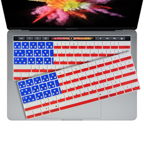 2 of 2016 US FLAG Keyboard Cover Skin for New 2016 MacBook Pro 13 (A1706 A1708) & MacBook Pro 15 (A1707) by - Flag Keyboard American