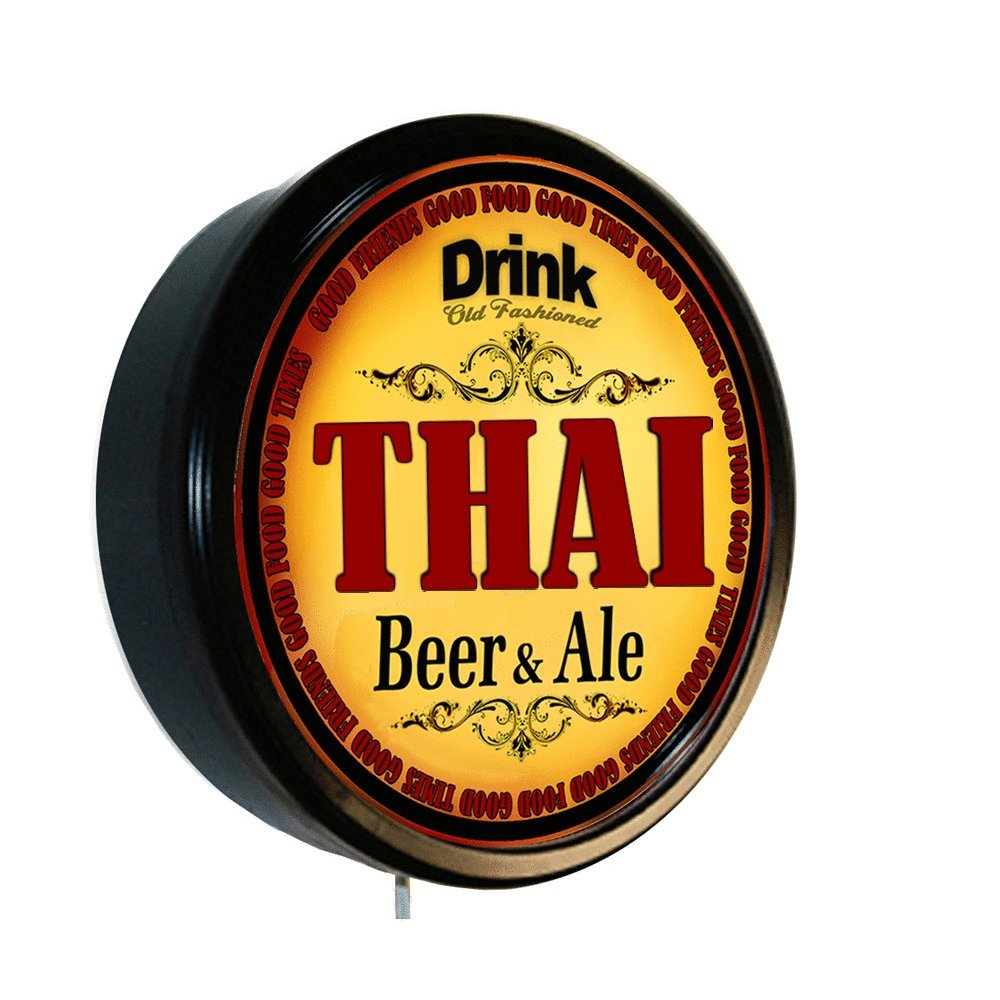 THAI Beer and Ale Cerveza Lighted Wall Sign by Goldenoldiesclocks