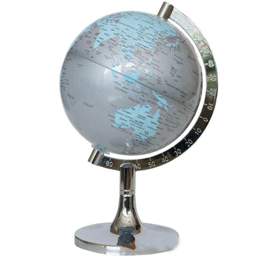 YyZCL Volle Erde drehen Metall Englisch Globus Retro Globe Globus Metall Metall Globus Basis Büroeinrichtung Artikel Globus Skala Wissenschaft Lehre 14,2 cm Globus für pädagogische Geografie (Farbe : B) 9045f0