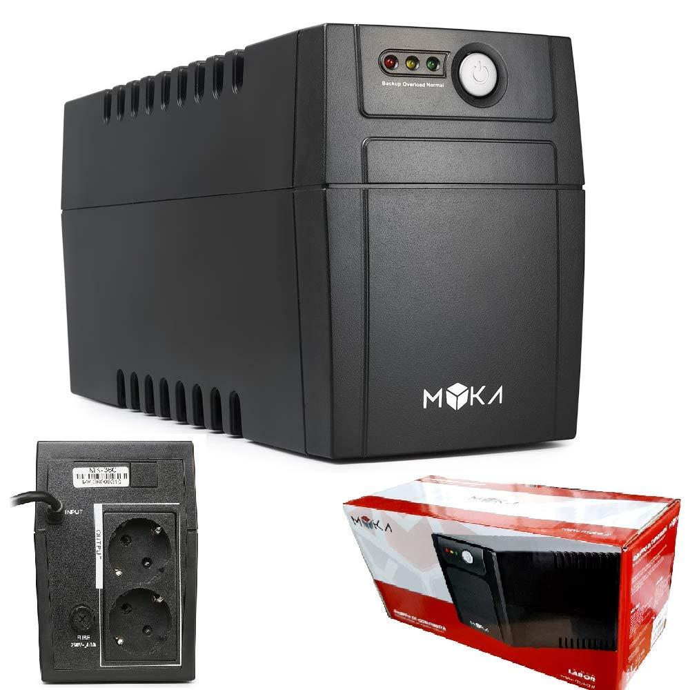 RJ11 LINE-INTERACTIVE MK-1025 UPS GRUPPO DI CONTINUITA MYKA 2000VA LABOR PRO LCD 4x SCHUKO 1x IEC13