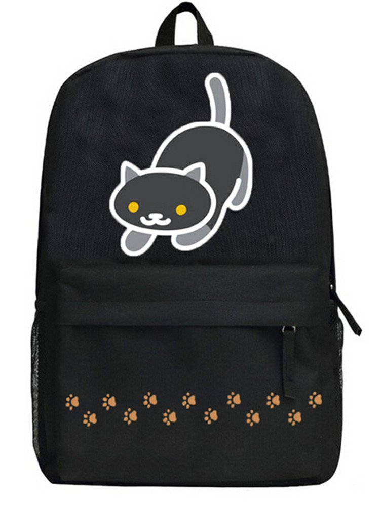 Siawasey Neko Atsumeアニメ猫裏庭コスプレブックバッグDaypack Collegeバックパックスクールバッグ   B071X94ZP9