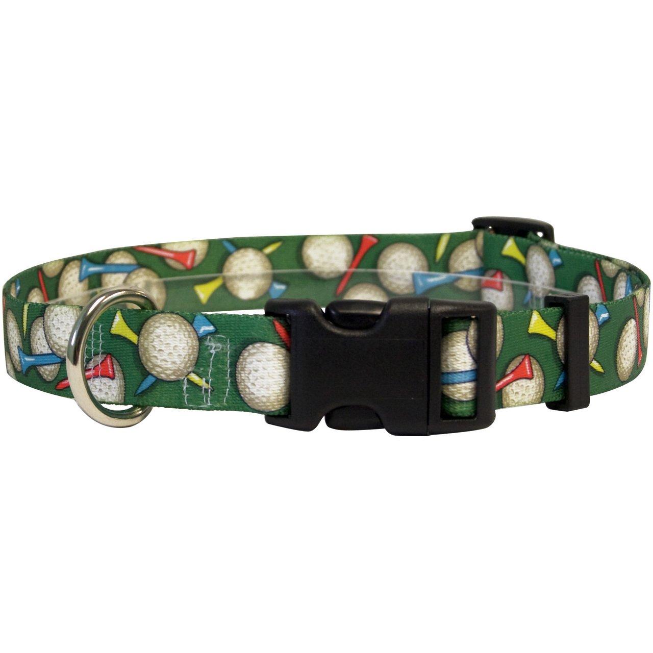 Yellow Dog Design Golf Balls Dog Collar Fits Neck 14 to 20''/4'' Wide, Medium 3/4'' Wide by Yellow Dog Design