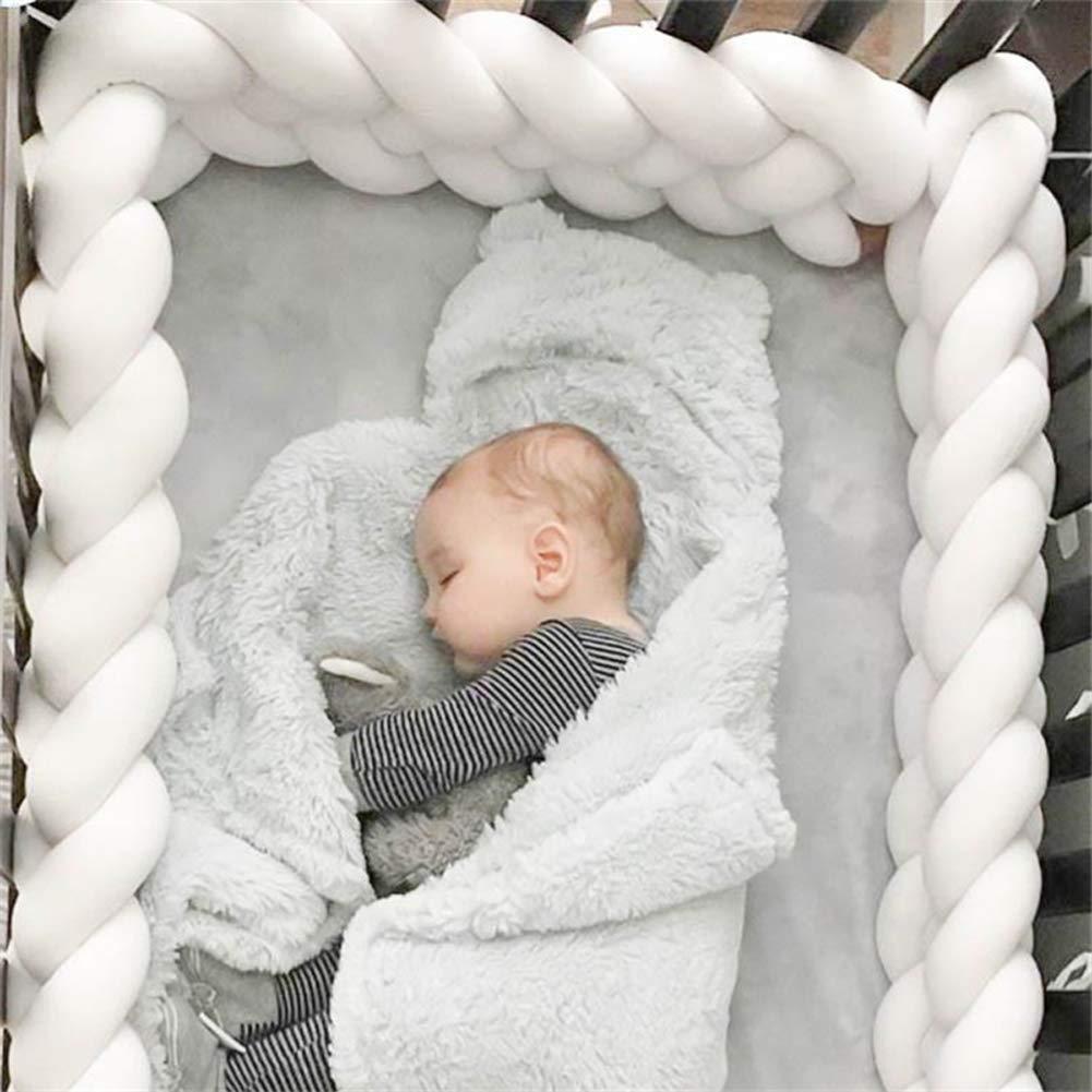 1-3.5M Baby Babynestchen Krippe Nestchen Kopfschutz Knotenkissen Bettschlange DE