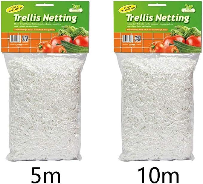 1.67x5m Doro0 Plant Climbing Net Garden Cucumber Vine Weaving Frame Trellis Netting Landing Polyester Support Vegetable Grow Flower Mesh