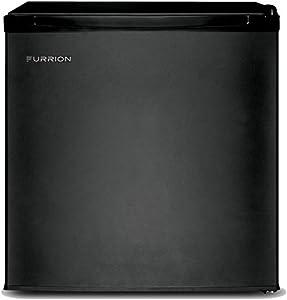 Furrion 1.7 cu.ft 110-120 Volt Compact, Energy Efficient, Single-Door Refrigerator (Matte Black) - FCR17ACA-BL