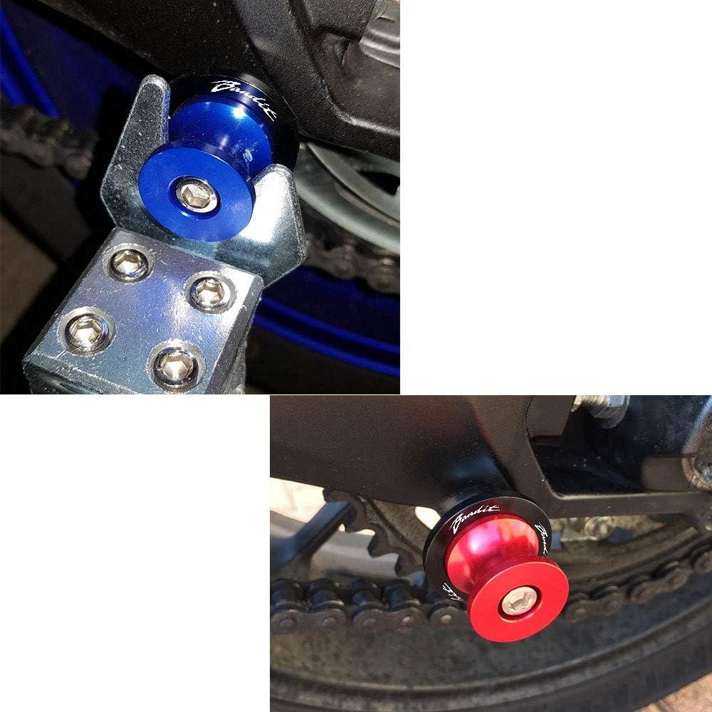 2 pcs M8 Motocicleta Juego Di/ábolos Aluminio para Suzuki GSF 250 400 600 650 1200 1250 1250S Bandit Plata