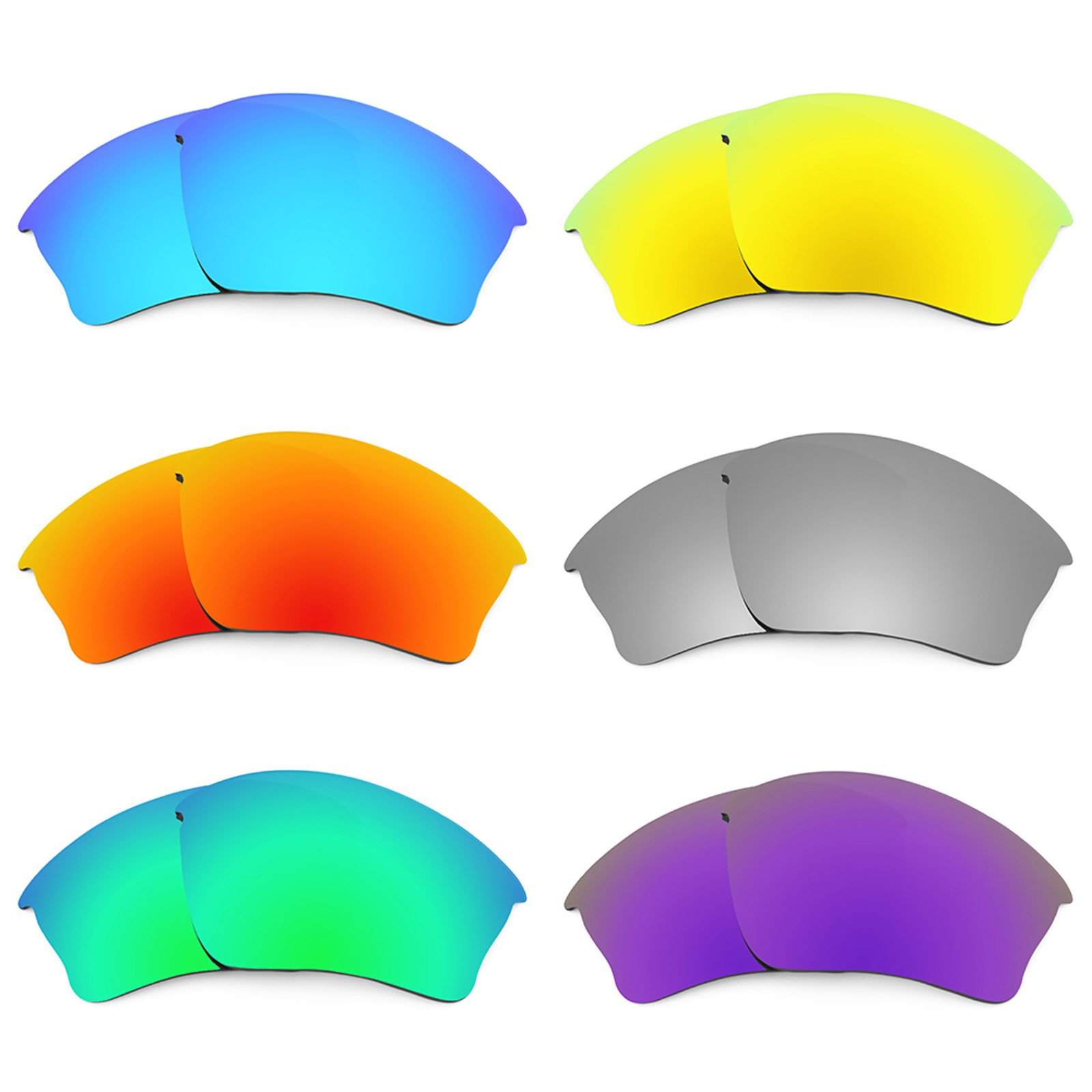 Revant Replacement Lenses for Oakley Half Jacket XLJ 6 Pair Combo Pack K027 by Revant