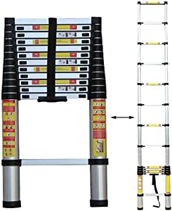 MTYLX Ladders,Telescopic Ladder,Folding Ladder Aluminium Telescopic Extension Portable 150Kg Max Capacity,Large Muti-Purpose Loft Step Ladders,5.0M/16.4Ft,5.0M/16.4Ft