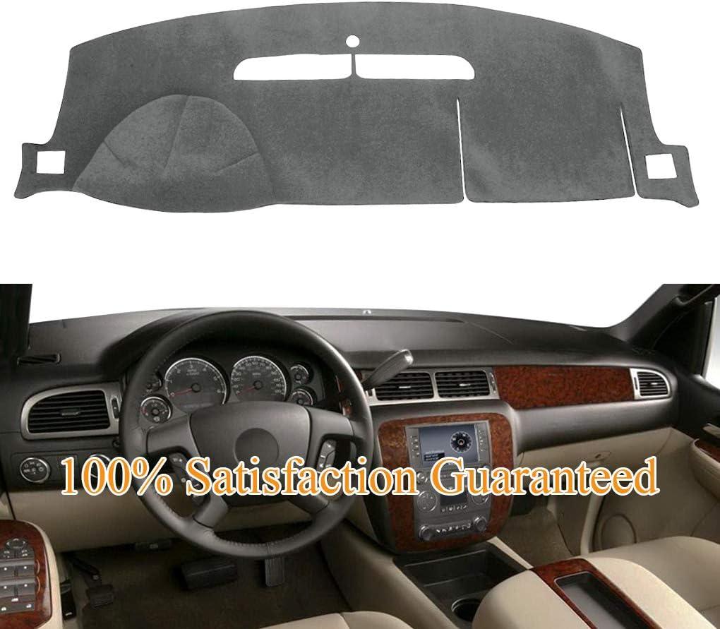 Dashboard Cover Dash Cover Mat Pad Fit for Chevy Chevrolet Tahoe Suburban 2007-2014,Chevrolet Avalanche Silverado 1500 LTZ 2007-2013,GMC Yukon All Models 2007-2014 (Gray) Y24