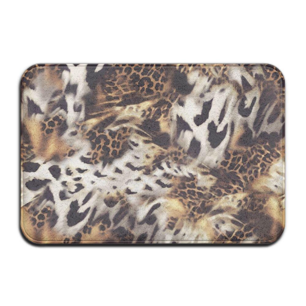 1 Piece Smart Dry Memory Foam Bath Kitchen Mat For Bathroom - Leopard Print Shower Spa Rug 18x36 Door Mats Home Decor With Non Slip Backing - 3 Sizes
