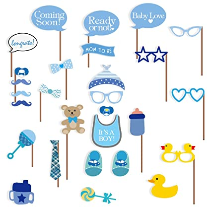 Amazon Com Baby Shower Photo Booth Props 29 Pcs Attached To The