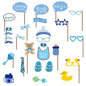 Amazoncom Baby Shower Photo Booth Props 29 Pcs Attached To The