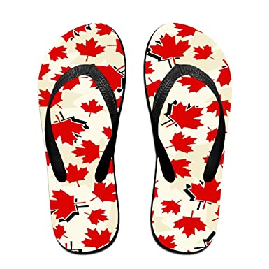 18d2ef5f4daf51 Canada Maple Leaf Cozy Flip Flops For Children Adults Men And Women Beach  Sandals Pool Party