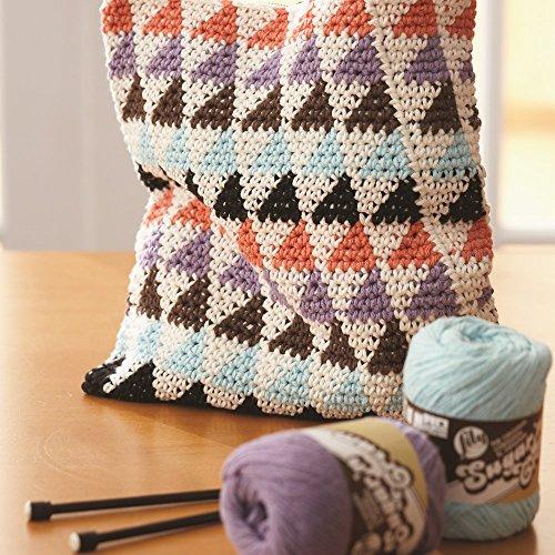 Lily Sugar'n Cream Cotton Cone Yarn, 14 oz, Black , 1 Cone by Lily (Image #4)