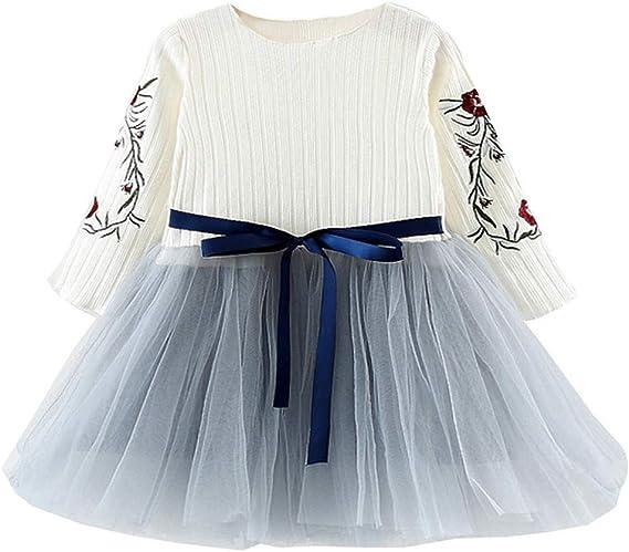 Mitlfuny Verano Bebé Ropa Princesa Vestidos para Niña Manga Larga ...