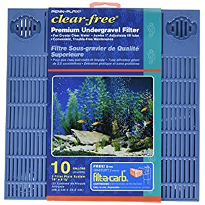 Penn Plax Premium Under Gravel Filter System - for 10 Gallon Fish Tanks & Aquariums 29