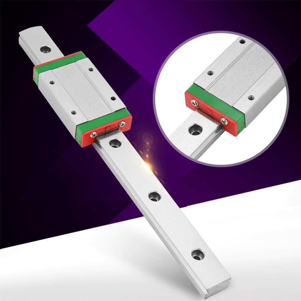 Akozon Guida di scorrimento lineare LML15H lunghezza 200 mm con blocco scorrevole di estensione