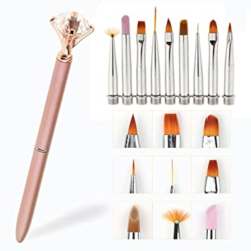 10 Professional Nail Art Design Brushes With Changeable Tips