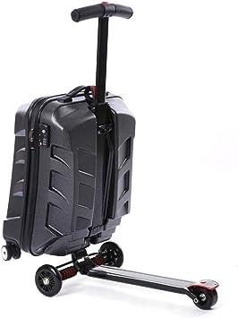 Amazon.com: Scooter de equipaje de 21.0 in, maleta plegable ...