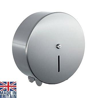 Lockable Jumbo - Dispensador de papel higiénico (acero inoxidable pulido, 30,48 cm