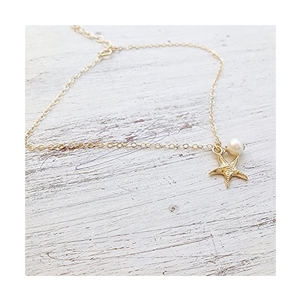 WeiMay 1 x Lovely Starfish Shape cavigliera perla sandalo a piedi nudi accessori da spiaggia piede gioielli 5 spesavip