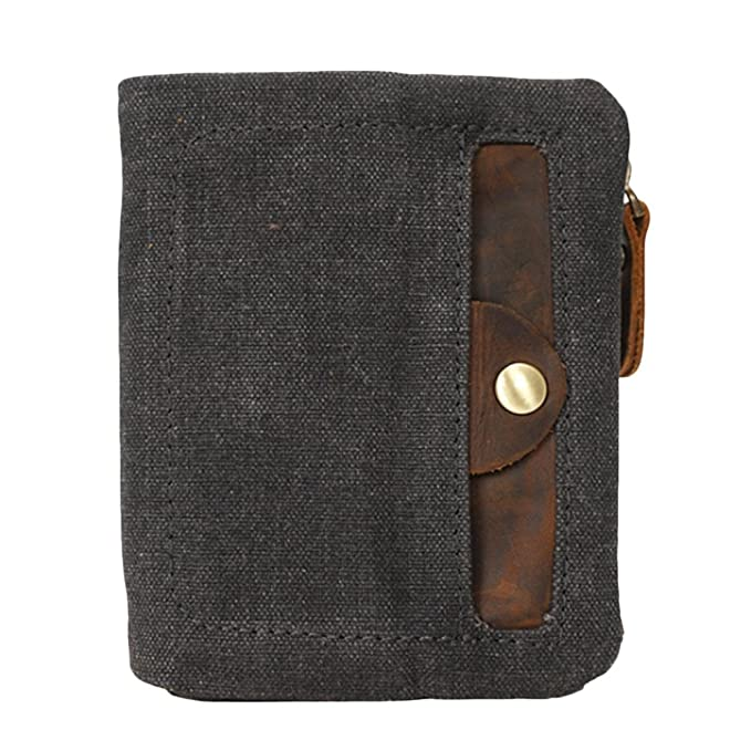 45f068081 Zhhlaixing Cartera para hombre y mujer Ideal para trabajo y viaje Mens  Wallet Bifold Waterproof Canvas Short Purse Money Organizer for Men Womens  Teens: ...