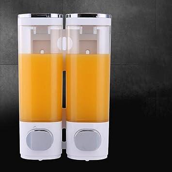 Qin ducha Loción Dispensador de jabón dispensador a la pared montaje Gel de Ducha manual Botella