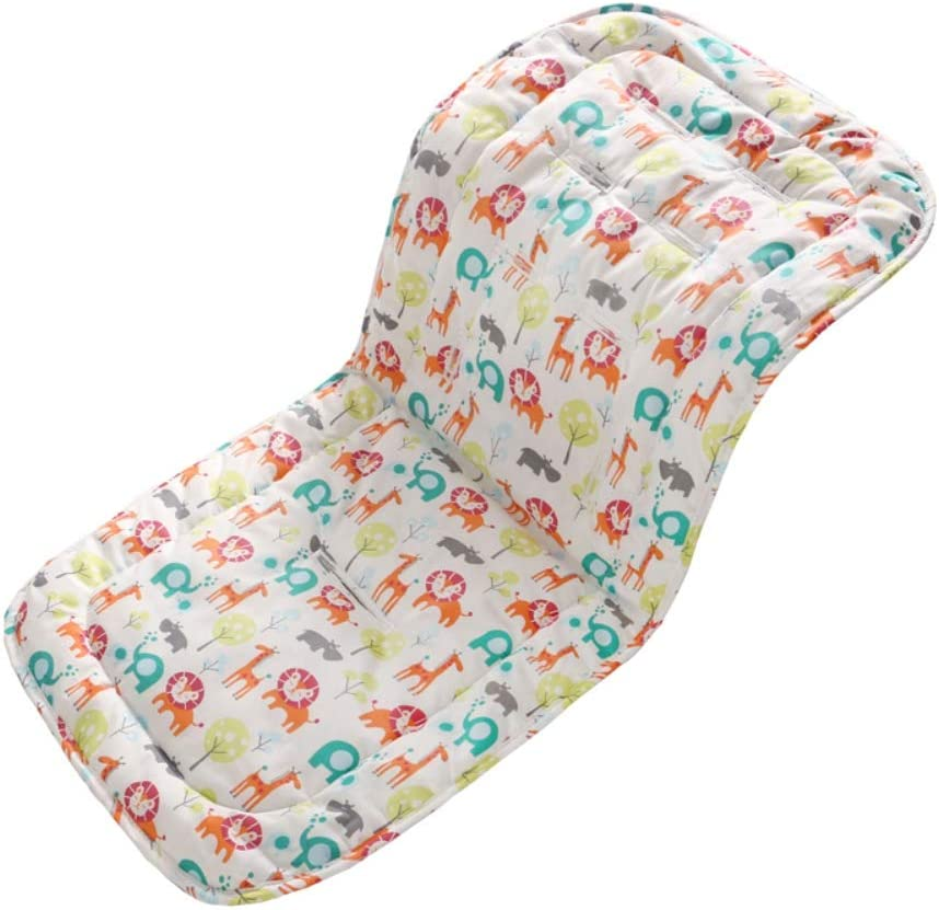 Greyghost Cotton Baby Seat Liner Stroller Seat Mat Breathable Cushion Pad for Car Seat High Chair Pushchair