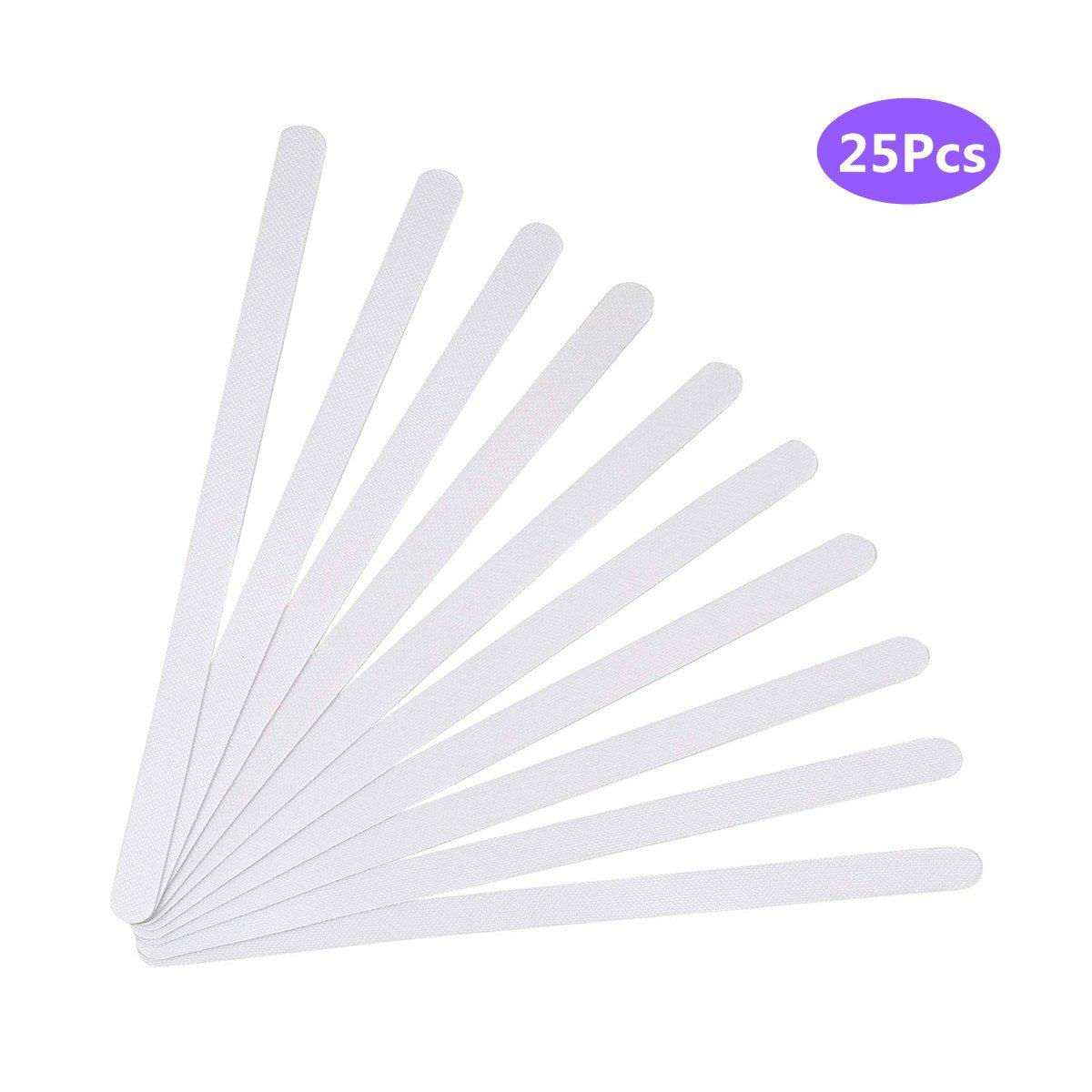 Fayre Fairy Anti Slip Strip Stickers, 25pcs Non Slip Shower Strips Pad Flooring Safety Tape Mat for Bath Shower - White
