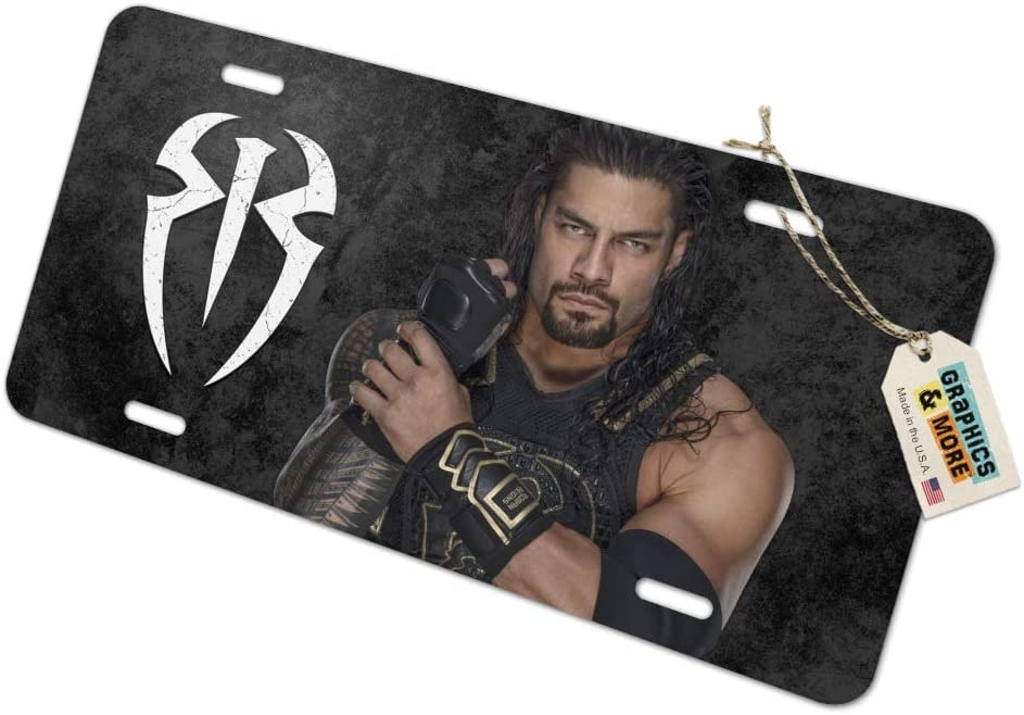 WWE Roman Reigns Locked and Loaded Novelty Metal Vanity Tag License Plate