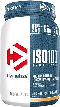 Dymatize ISO 100 Orange Ice Cream 900g - Hidrolizado de Proteína de Suero Whey + Aislado en Polvo