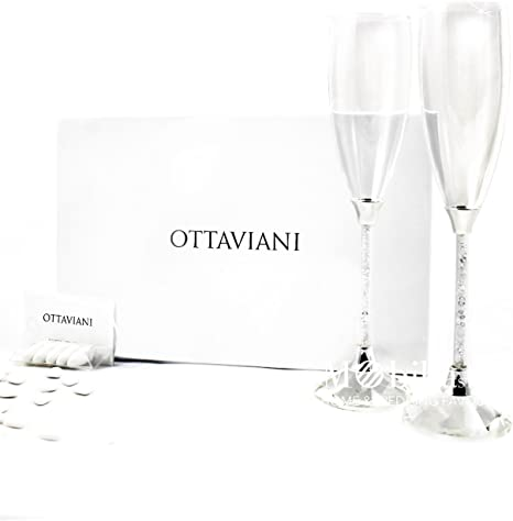 Bomboniere Matrimonio Bicchieri.Bomboniere Matrimonio Confezionate Bicchieri Flutes Ottaviani