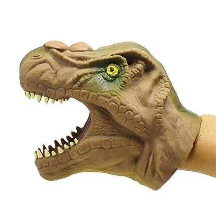 Amazon.com: 6.2 Inch Tyrannosaurus Rex Hand Puppet Soft Rubber ...