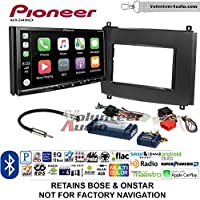 Volunteer Audio Pioneer AVH-2440NEX Double Din Radio Install Kit with Apple CarPlay, Android Auto and Bluetooth Fits 2003-2007 Cadillac CTS, 2004-2006 SRX