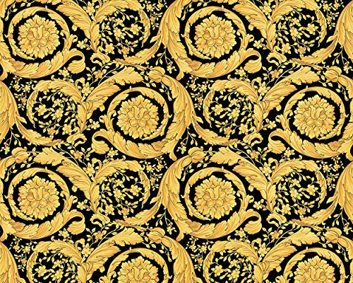 Baroque Wallpaper - Versace Barocco Wallpaper, Luxuriant Baroque Flowers Design - Textured Pattern - 27.56