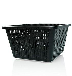"Hydrofarm Active Aqua HG9SQBK 9-Inch Square Basket, 9"", Bag of 24"
