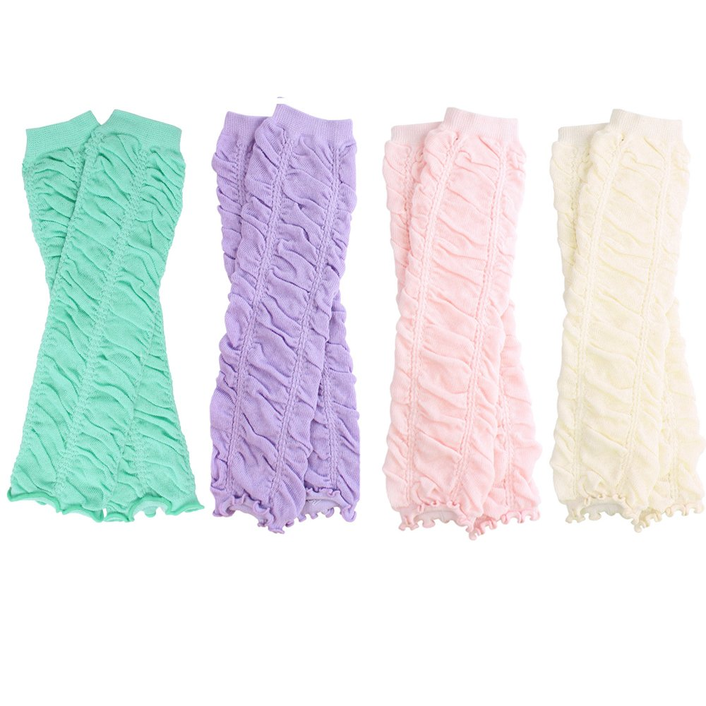 Ruffle 4 Pack Girls Baby and Toddler Leg Warmers by juDanzy by juDanzy