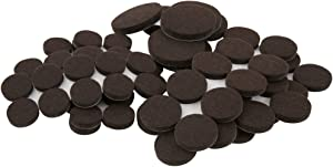 SoftTouch 80 Piece Pack in Walnut Brown, Self-Stick Heavy Duty Furniture Felt Pads in Two Sizes for Tables and Chairs. Protect your Hardwood Floors & Tile from Scratches