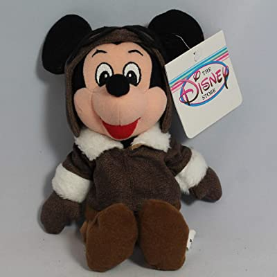 Mickey Pilot - Disney Mini Bean Bag Plush: Toys & Games