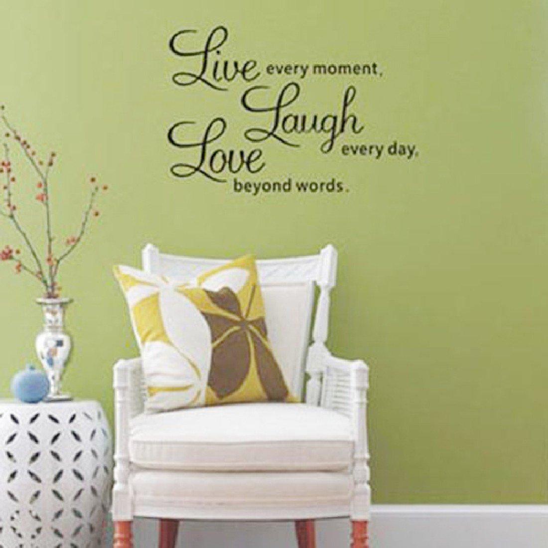 Amazon.com: Home D¨¦cor Live Laugh Love Sayings Pvc Diy Vinyl Wall ...