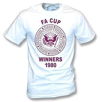 La camiseta el an o 80 de los ganadores de West Ham la FA Cup pequeña