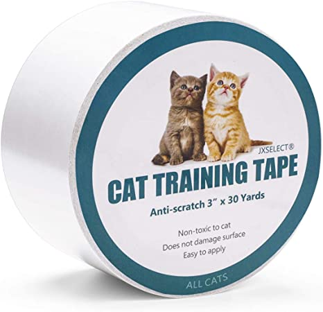 Jxselect Anti Scratch Cat Training Tape Cat Scratch Prevention Tape For Furniture Couch Door Carpet Pet Scratch Protector 3 Inches X 30 Yards Pet Supplies