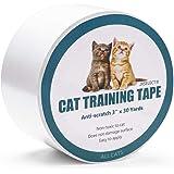 Jxselect Anti-Scratch Cat Training Tape, Cat Scratch Prevention Tape Furniture,Couch,Door,Carpet,Pet Scratch Protector, 3 Inches x 30 Yards