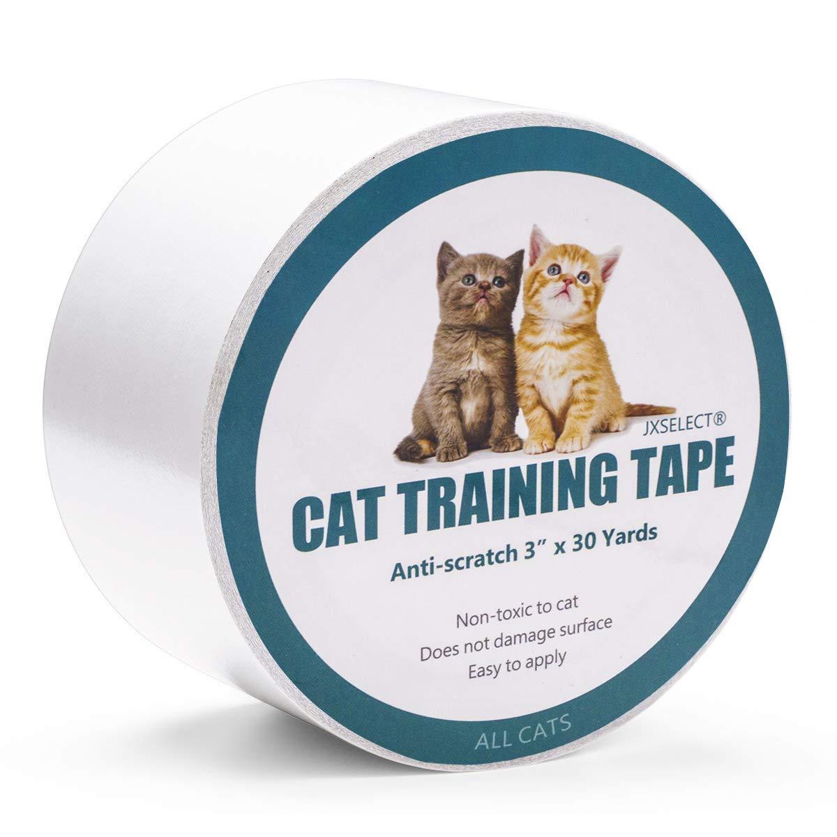 Jxselect 家具 ソファドアカーペットペットスクラッチプロテクタ3インチ×30ヤード 用 アンチスクラッチ猫 トレーニングテープ猫スクラッチ防止テープ. 3