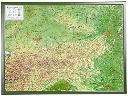 Österreich 1:800.000 mit Rahmen: Reliefkarte Österreich mit grünfarbenen Holzrahmen (Englisch) Landkarte – 1. November 2009 Georelief B002YWXNTC Karten / Stadtpläne / Europa Atlas