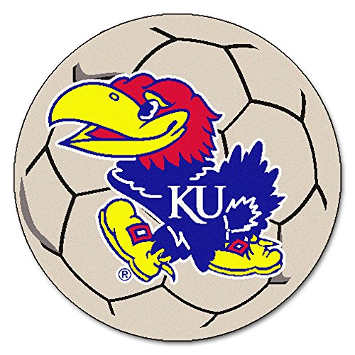University of Kansas Soccer Ball Rug (University Soccer Ball Rug)