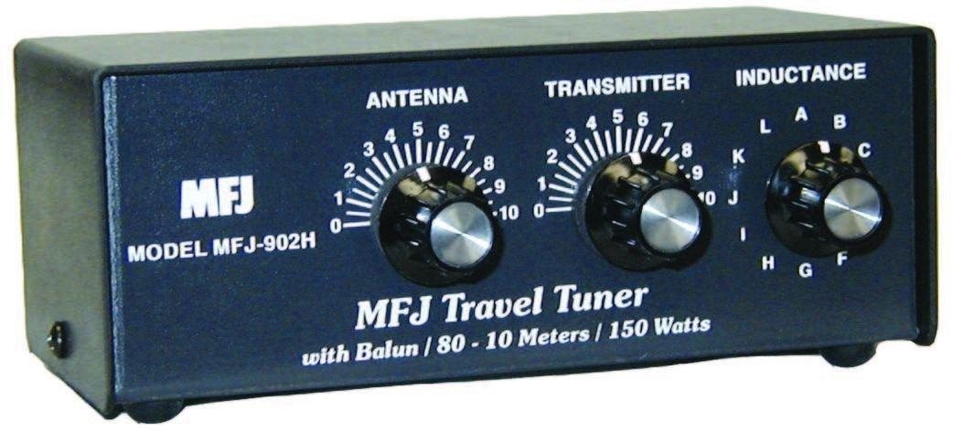 MFJ-902H MFJ-902 Original MFJ Enterprises 10-80 M Travel Tuner with Balun by MFJ